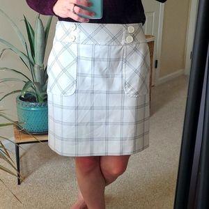 Ann Taylor LOFT☆Plaid Print Pencil Skirt